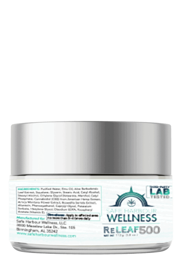 SHW ReLEAF Intensive Healing Rub With EMU v2 INGREDIENTS