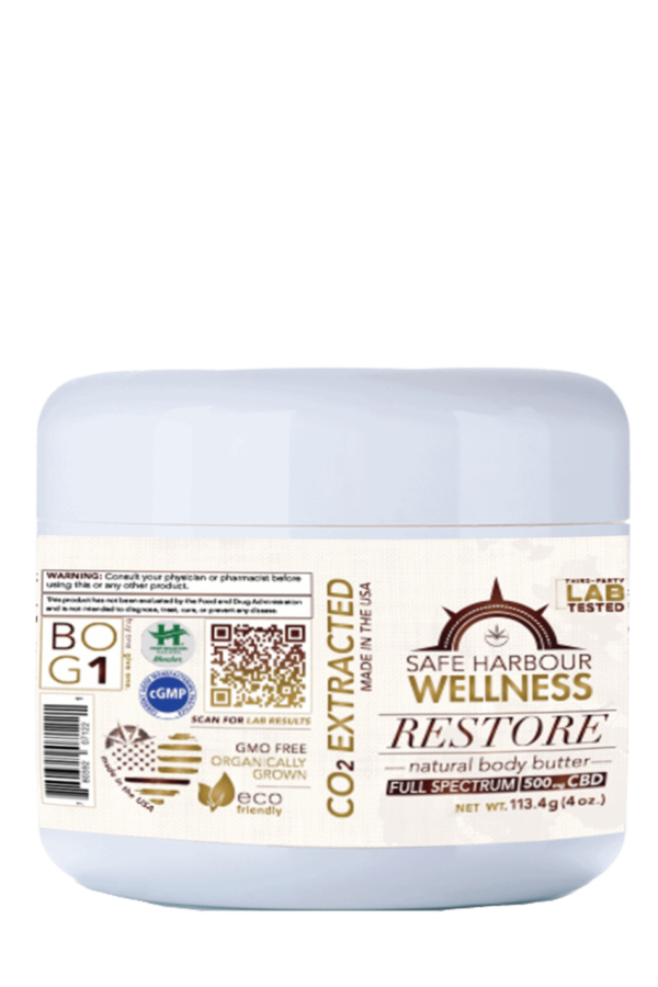 Case of ReSTORE Natural Body Butter with FULL SPECTRUM CBD