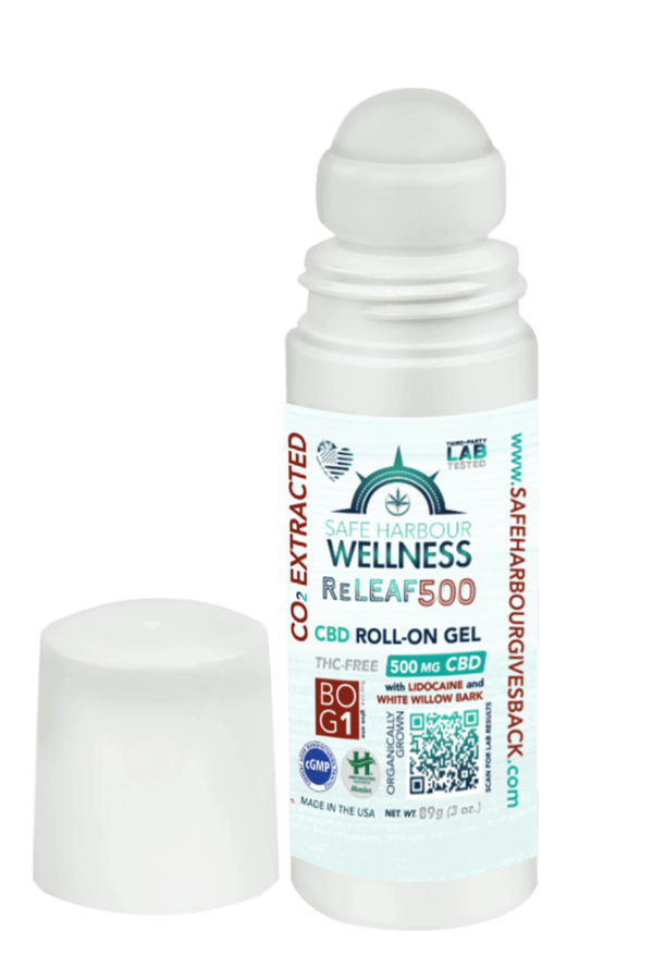 ReLEAF Roll On Gel with CBD Lidocaine and White Willow Bark 500mg